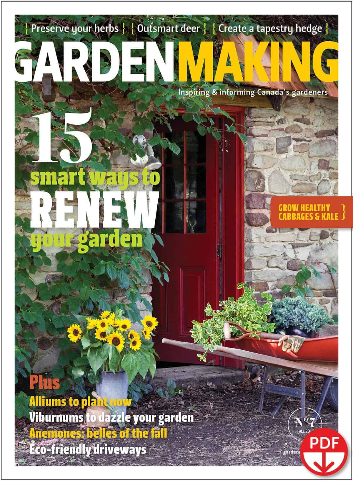 We have 15 smart ways for you to renew your garden. In the 70 pages of useful articles and inspiring photos, you'll find: