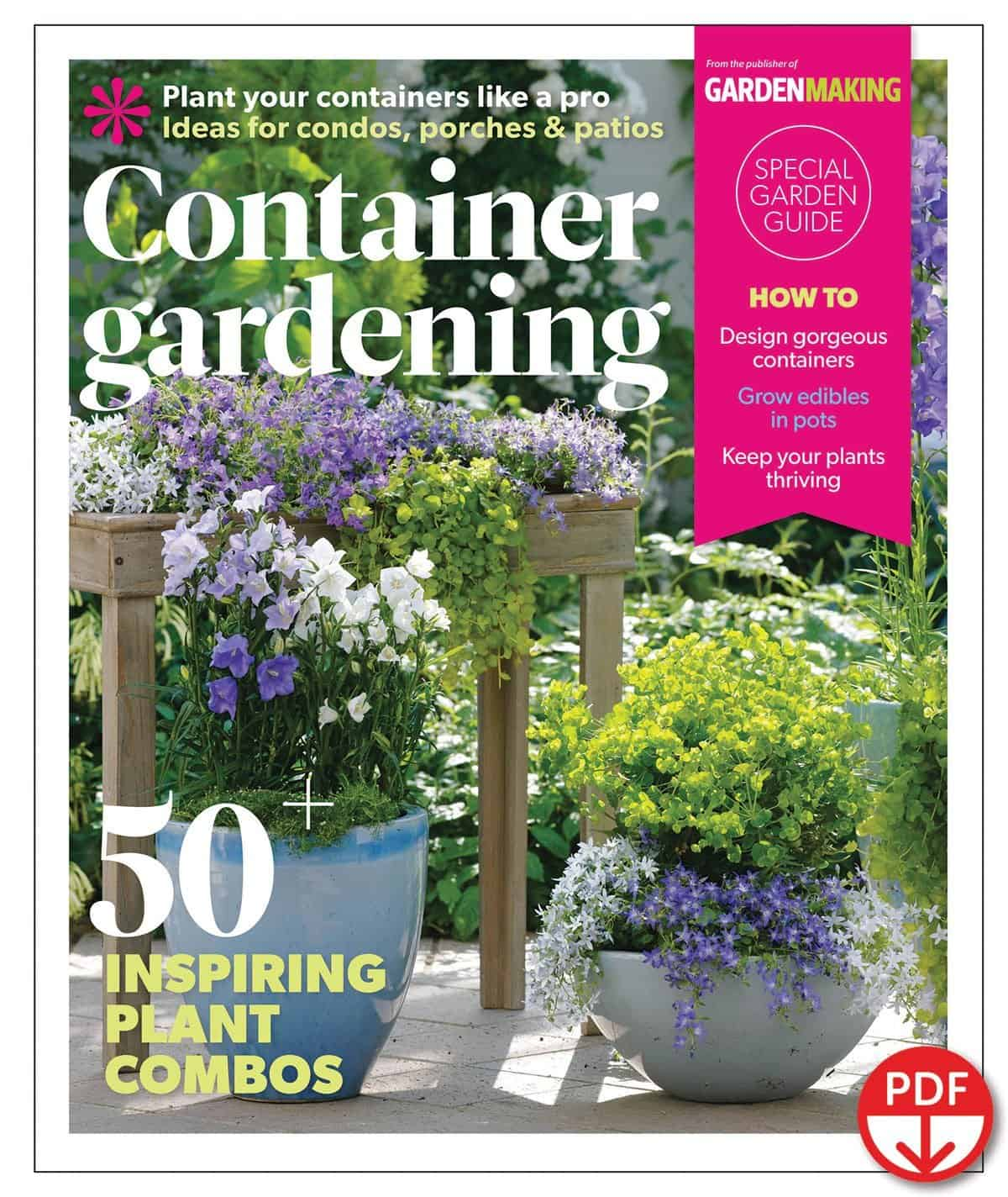 Many people new to gardening start with containers. The Container Gardening Guide has been directed by Garden Making Editor-in-chief Beckie Fox to appeal both to new gardeners and experienced hands looking for some new plant combinations to try out.