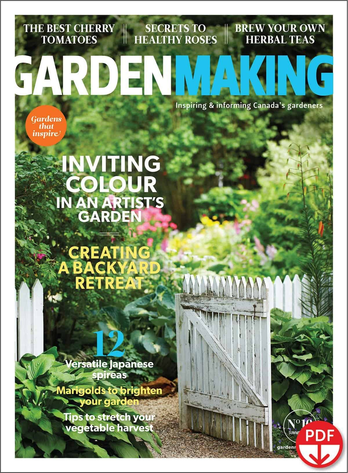 The garden profiles with informative interviews and gorgeous photos will inspire your own garden making: