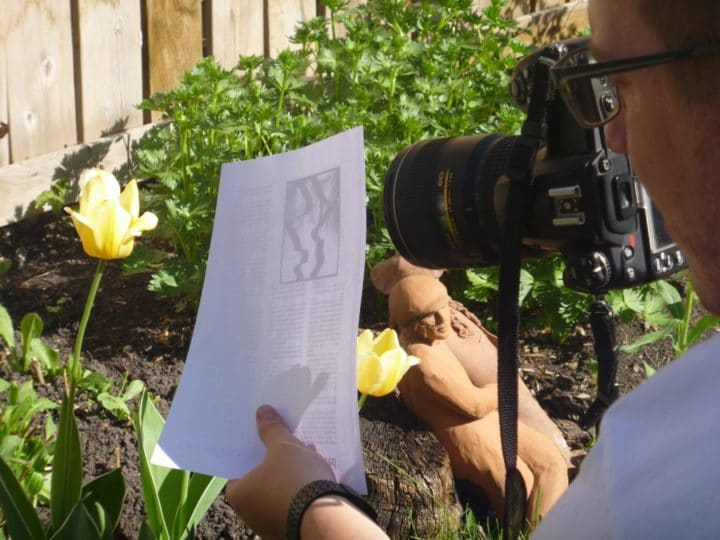 A sheet of white paper works just like a reflector, and it's handier than carrying a professional reflector.