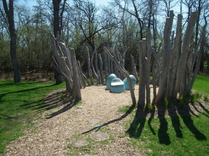 The Children's Natural Playground is designed to encourage playfulness.