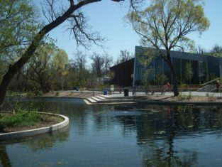 The Qualico Family Centre is a popular gathering place at Assiniboine Park.