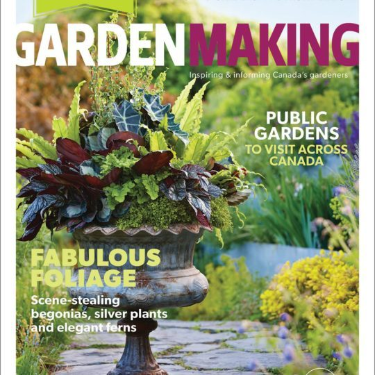 Foliage is the focus ofGarden Making's4th annual Garden Design Issue, No. 16.