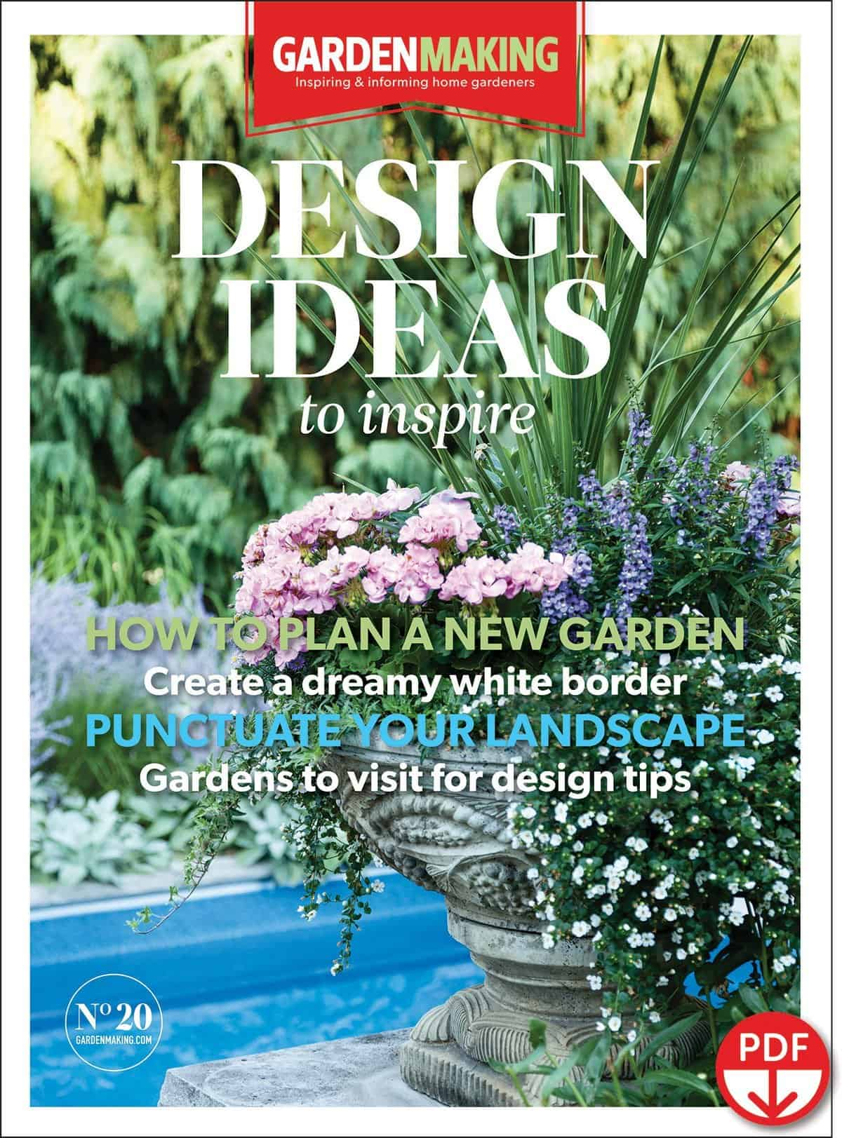 Planning a new garden? Traveling to visit gardens for design ideas. Garden Making issue No. 20 focuses on design ideas for gardens.