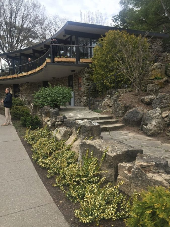 The new visitor centre at the RBG Rock Garden includes a restaurant thatcan handle events for 140 people.