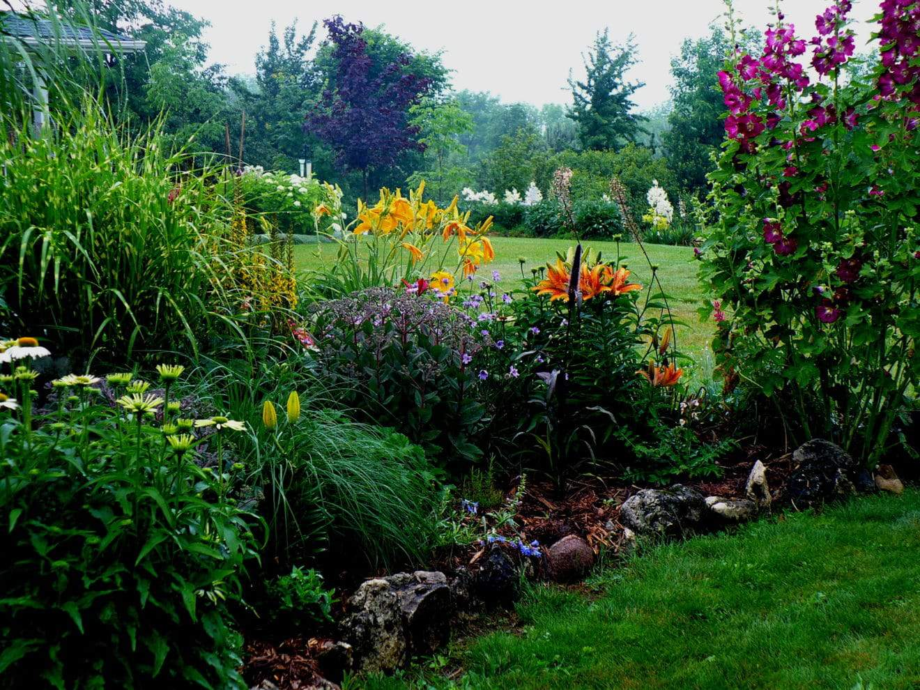 One of the gardens on the Ontariogarden route forthe Rural Gardens of Grey and Bruce Counties.