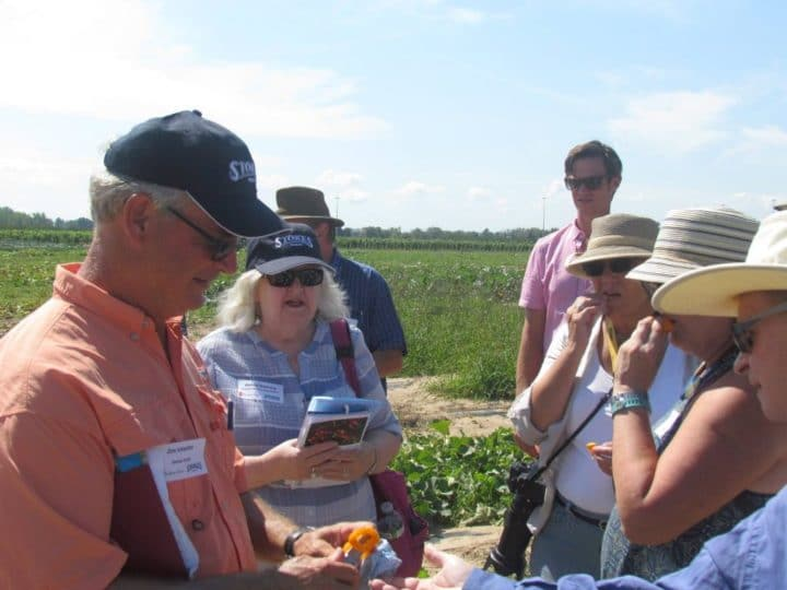 Garden writers at the 2016 tasting in the fields at Stokes trial garden in St. Catharines, Ontario