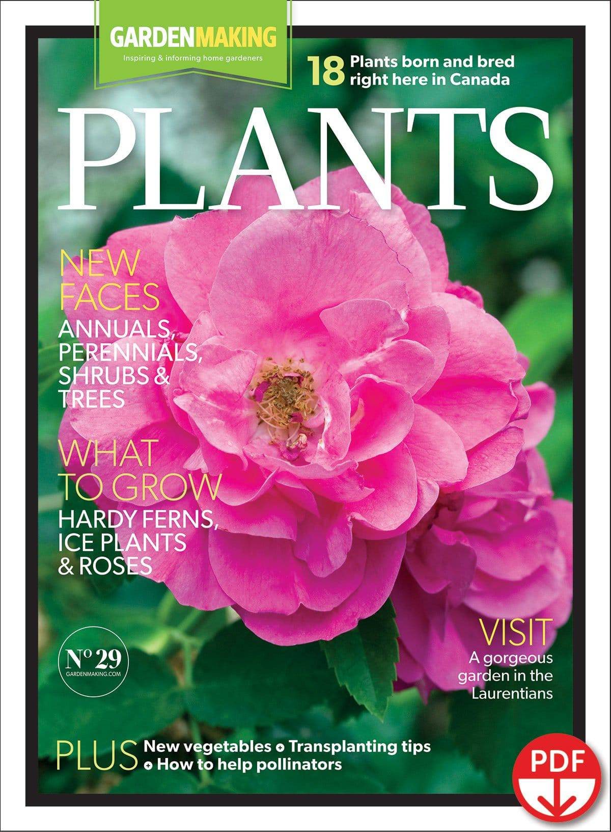 Issue No. 29 of Garden Making magazine focuses on plants