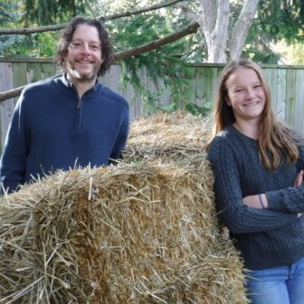 Steven and Emma Biggs, both gardeners and now published authors