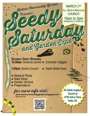 Ladner Seedy Saturday and Garden Expo 2019