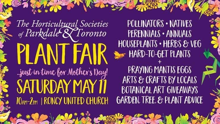 Plant Fair 2019: Parkdale & Toronto Horticultural Societies