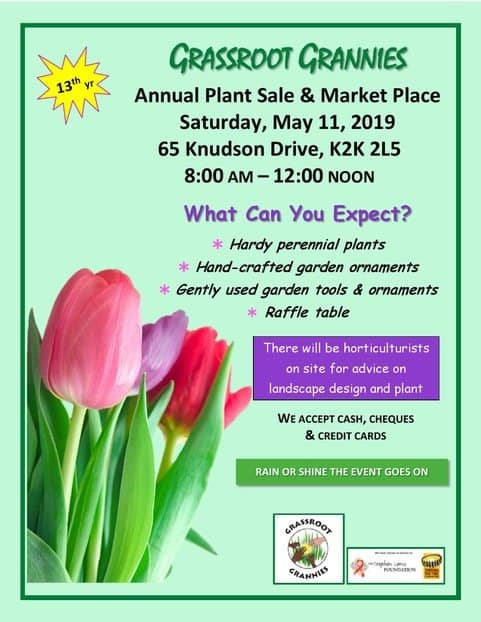 Grassroot Grannies 13th Annual Plant Sale  & Market Place