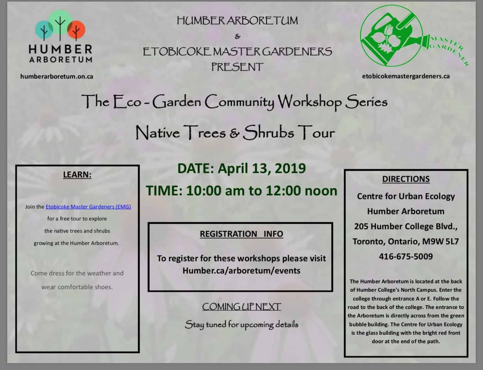 Native Trees & Shrubs Tour