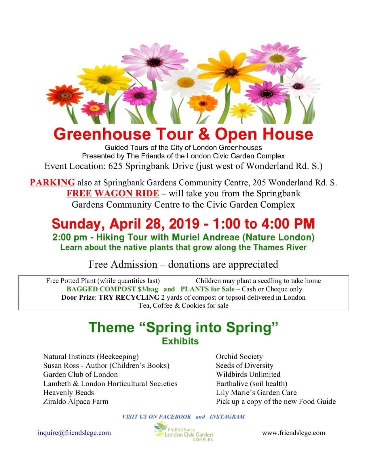 'Spring Into Spring' Greenhouse Tour & Open House