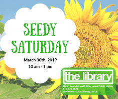 3rd Annual Seedy Saturday