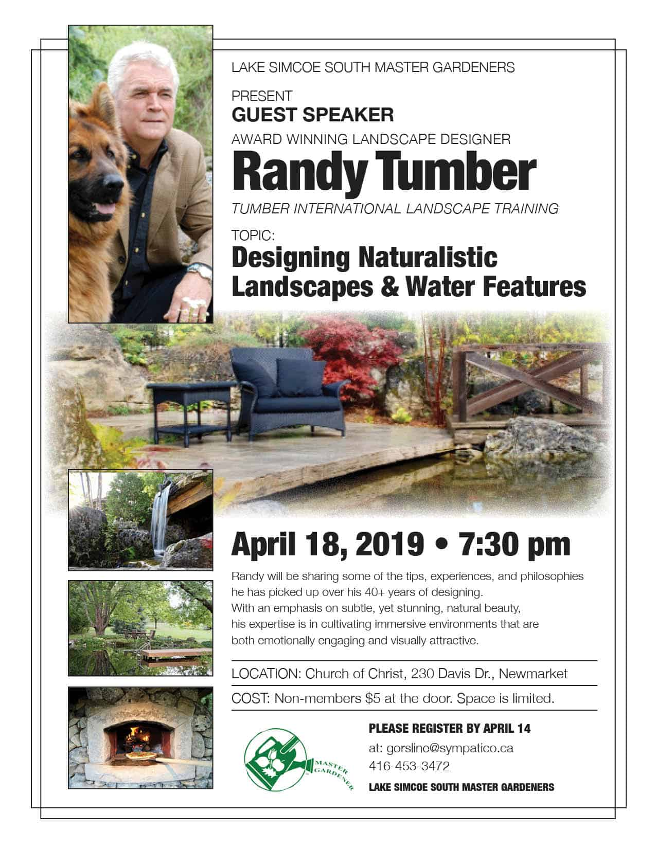 Designing Naturalistic Water features and Landscapes - Randy Tumber