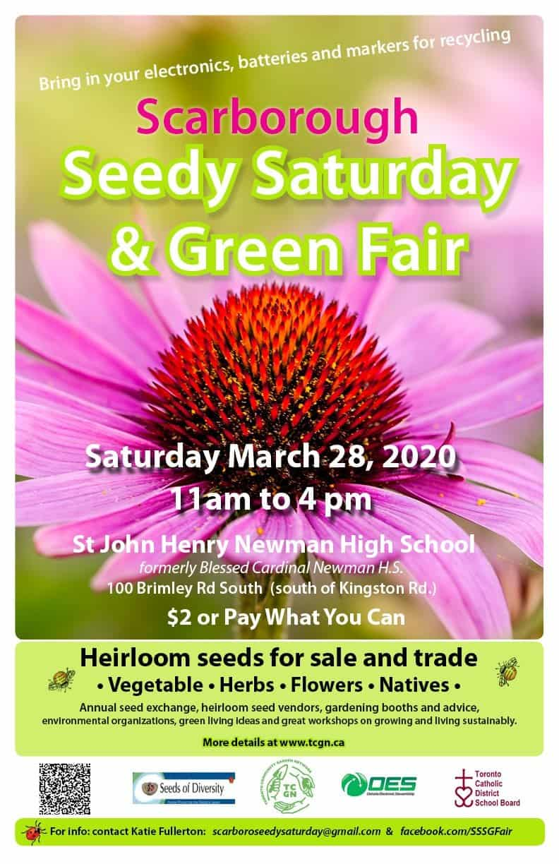 CANCELLED: Scarborough Seedy Saturday and Green Fair