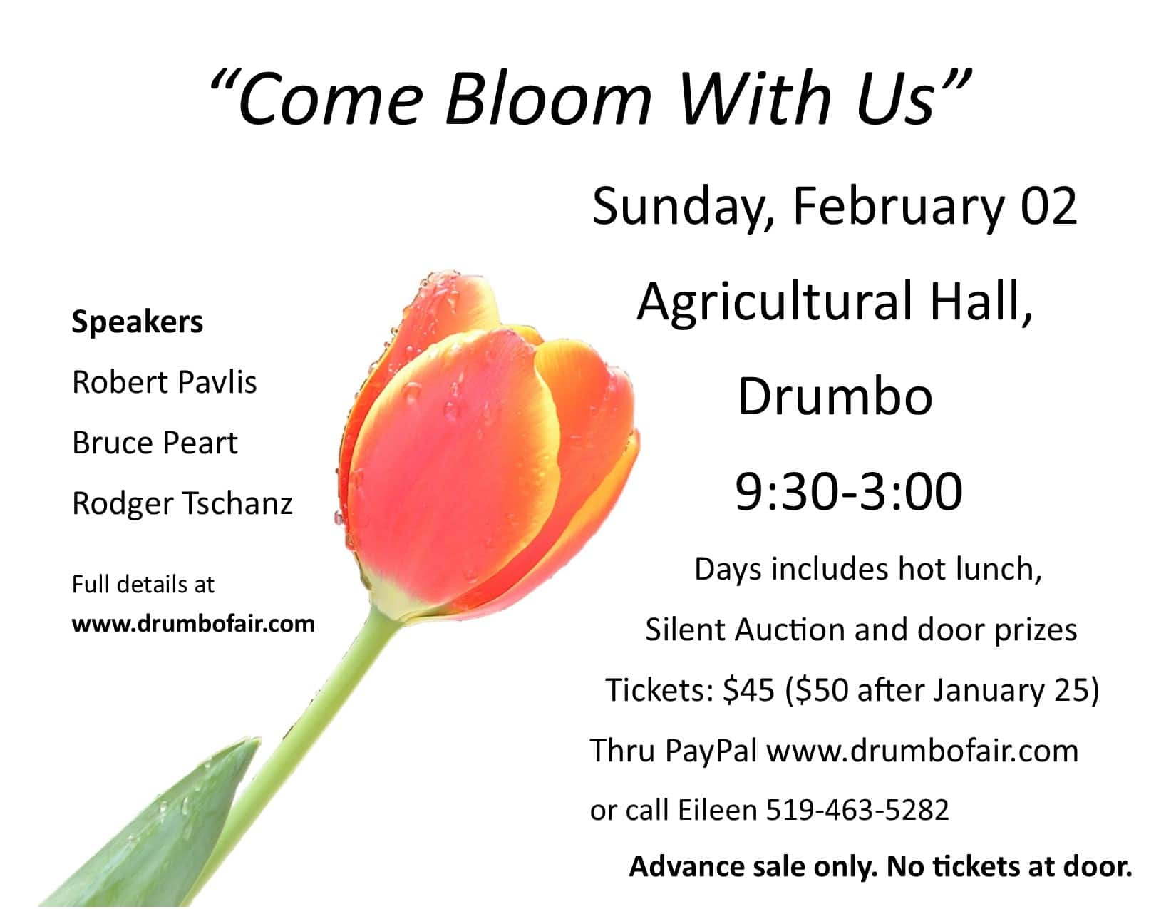 Come Bloom with Us - a Day of Everything to do with gardening