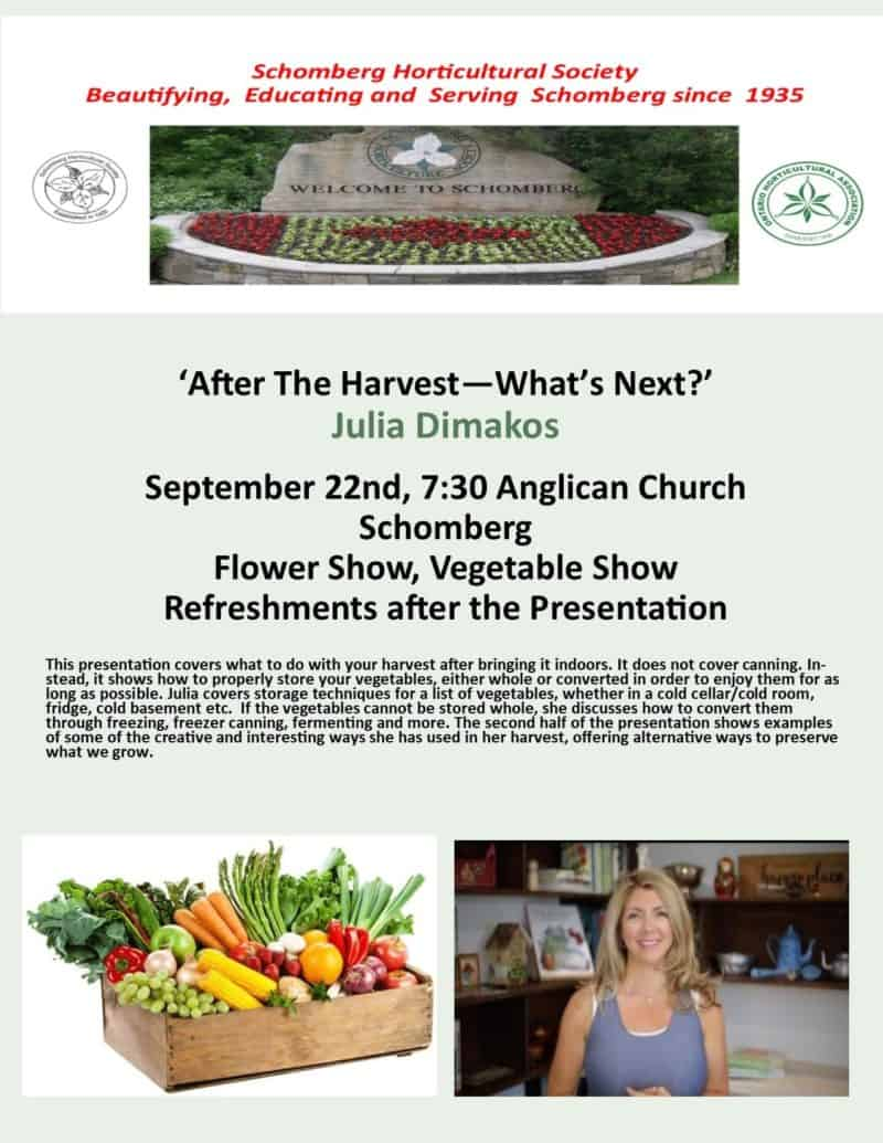 After the Harvest - What's Next?  with Julia Dimakos