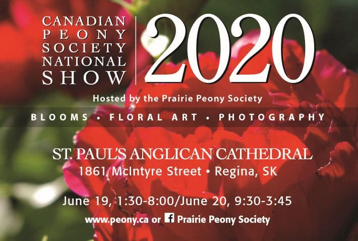 CANCELLED: Canadian Peony Society National Show 2020
