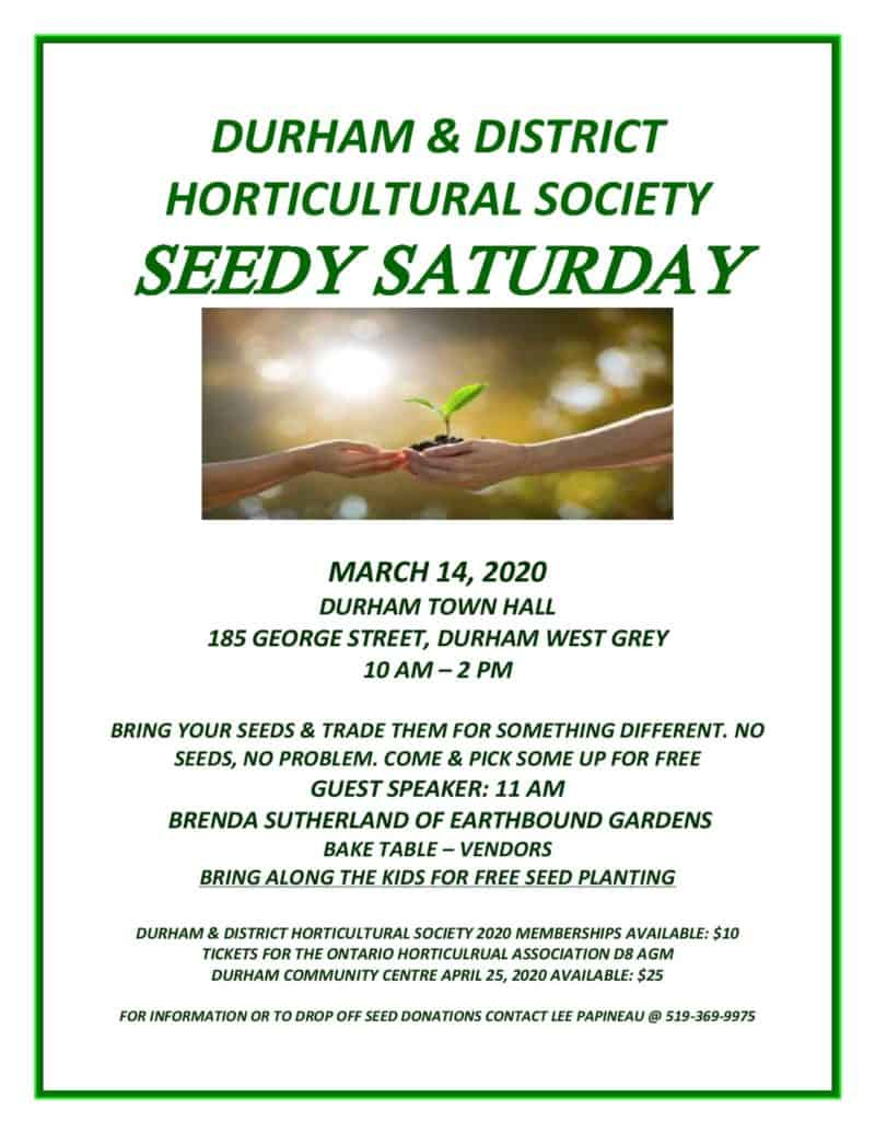 Seedy Saturday in Durham