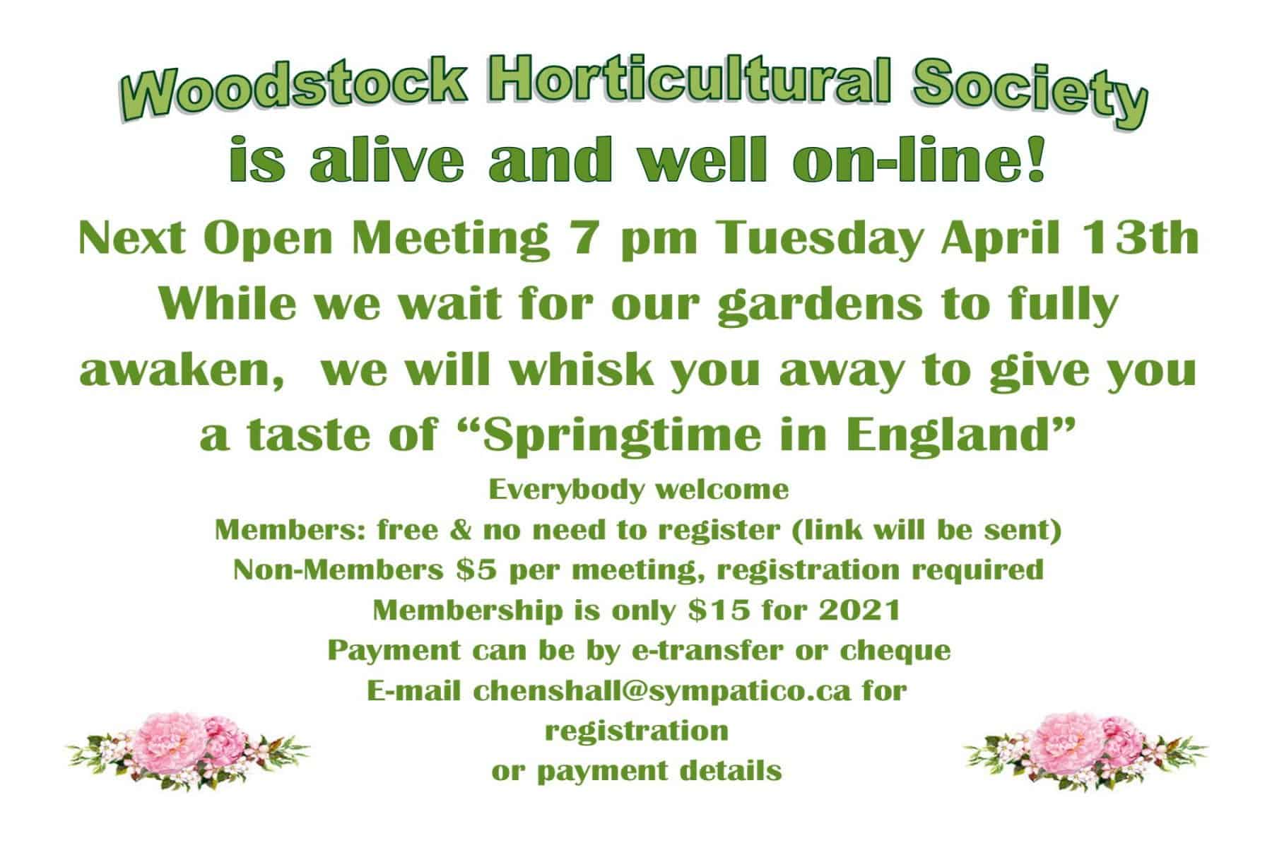English spring topic of virtual open meeting