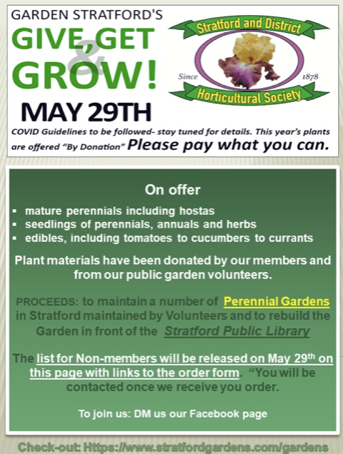 Garden Stratford's Give, Get & Grow Plant Sale